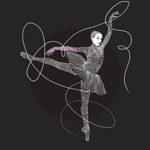 Ballet design with the title 'series of visually stunning portraits of 3 celebrated ballerinas'