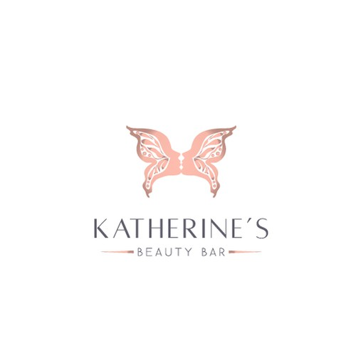 Pretty logo with the title 'Butterfly beauty'