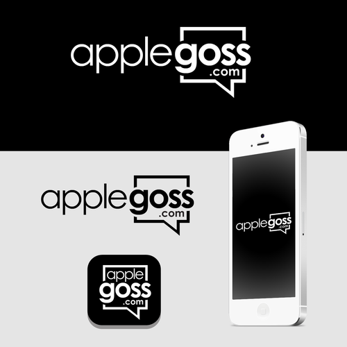 Messaging logo with the title 'Logo concept for applegoss'