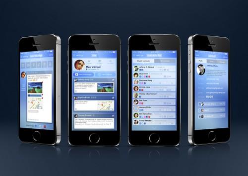 Messaging design with the title 'DingAir App Design'