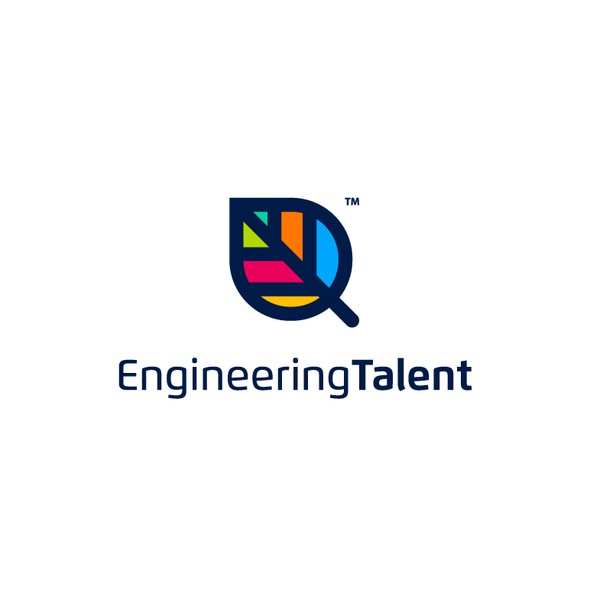 Co-working space design with the title 'Engineering Talent'