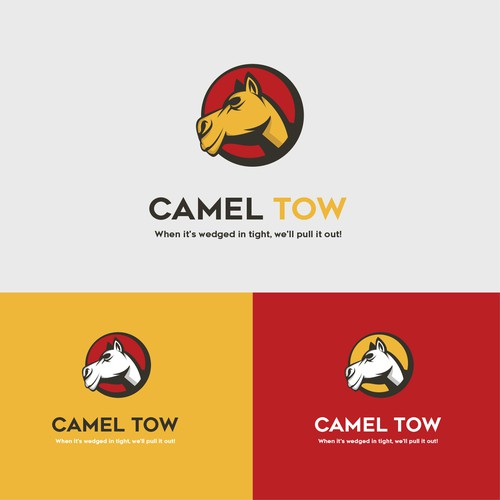 Towing design with the title 'Camel Tow Logo'