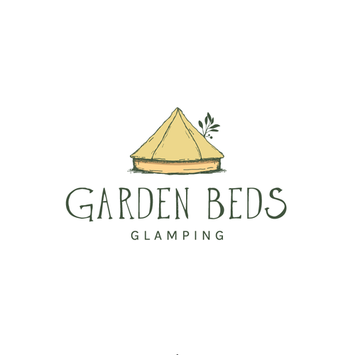 Earthy logo with the title 'Logo for luxury camping (glamping)'