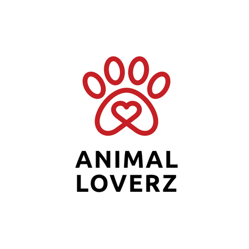 Design with the title 'ANIMAL LOVERZ'
