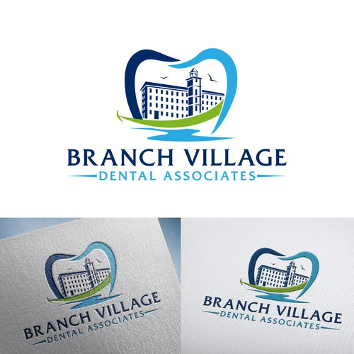 Mill design with the title 'Branch Village Dental Associates'