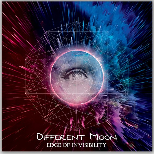 Ethereal design with the title 'Different Moon - Edge of Invisibility'