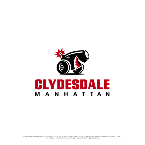 Shark logo with the title 'Clydesdale Manhattan'
