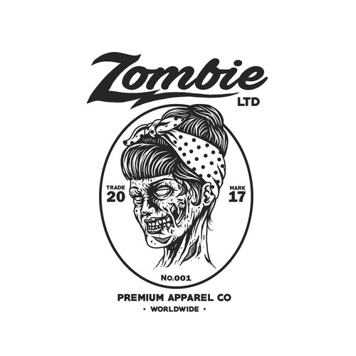 Fashion t-shirt with the title 'zombie ltd'