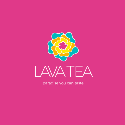 Aloha logo with the title 'Logo concept for Hawaiian tea company'