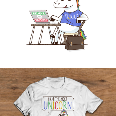 Unicorn Entrepreneur Illustration