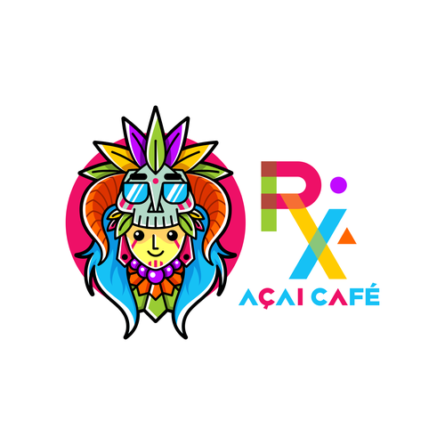 Tribal logo with the title 'Cool Logo for Acai Cafe'