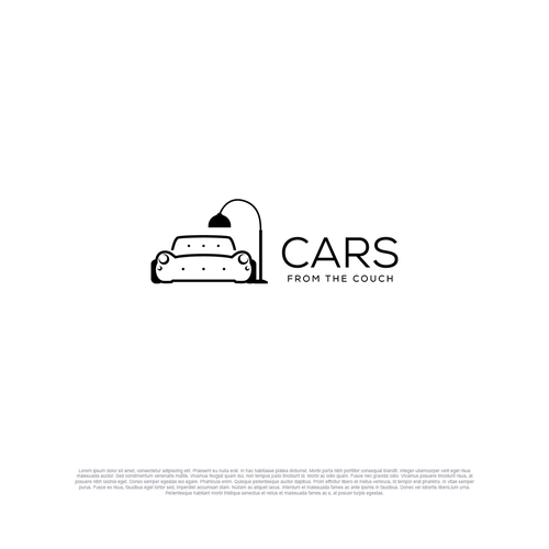 Car rental logo with the title 'Logo for Cars from the couch'