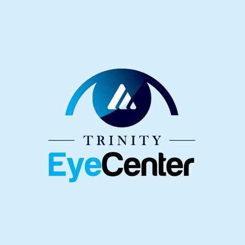 Podiatry logo with the title 'Trinity Eye Center'