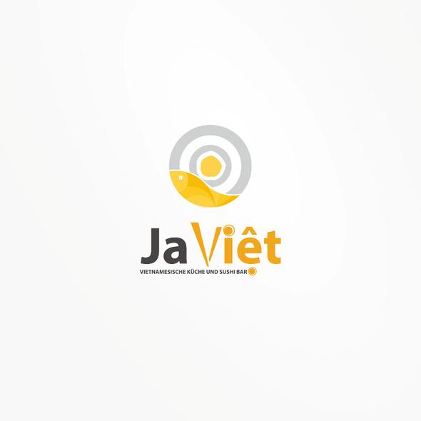 Vietnamese restaurant logo with the title 'Ja Viet Logo'