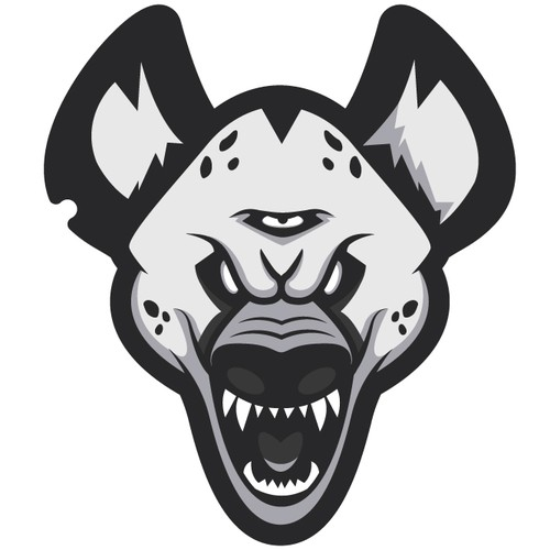 Angry logo with the title 'Hyena'