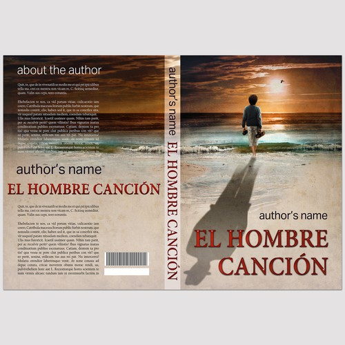 Story book cover with the title 'Book Cover for a unique novel EL HOMBRE CANCIÓN'