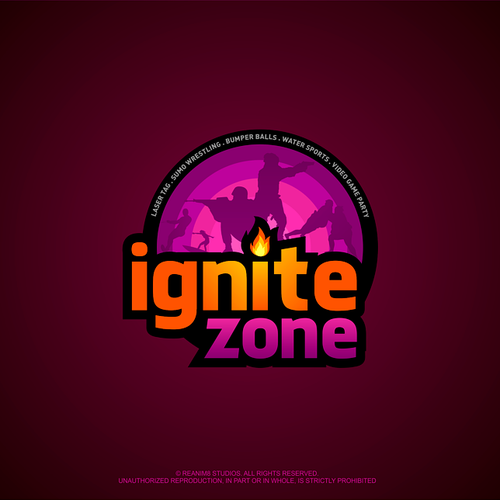 Survival logo with the title 'Logo concept for Ignite Zone'