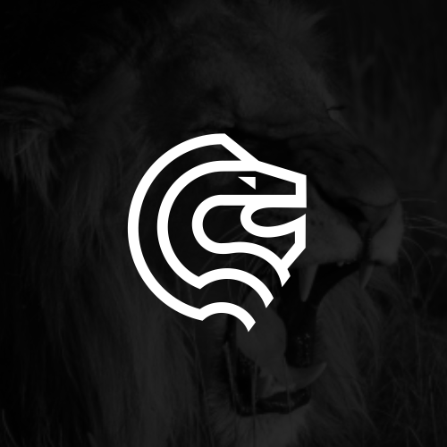 Head design with the title 'Lion mark'
