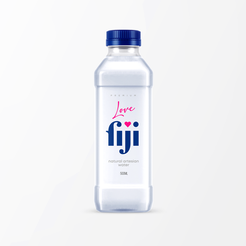 Clean label with the title 'LoveFiji artesian water'