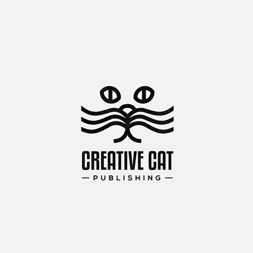 Publishing design with the title 'Cat + Book logo for a children's books publisher'