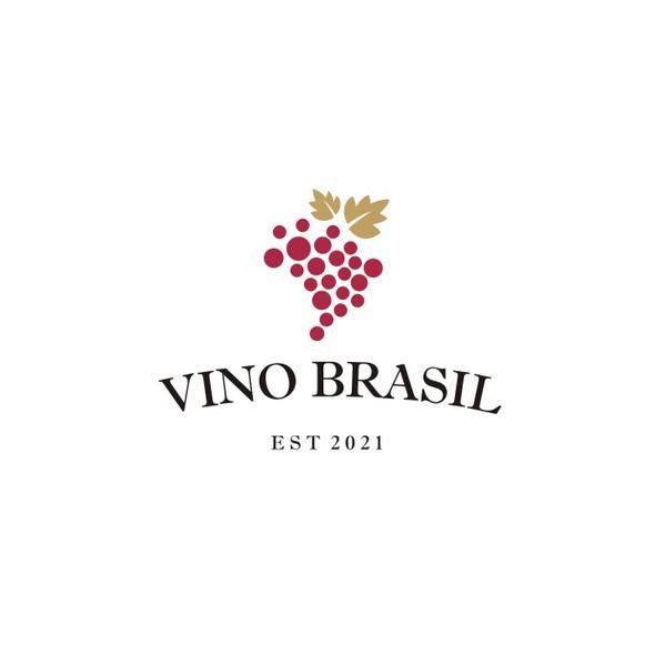 Brazil logo with the title 'Vino Brasil'