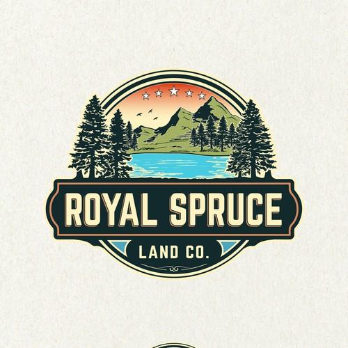 Landscape design with the title 'Royal Spruce Land Co.'