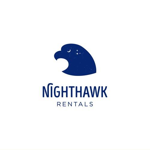 Hawk logo with the title 'Nighthawk Logo'