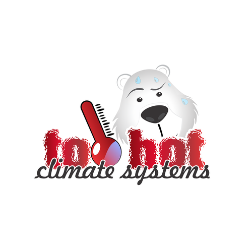 Climate logo with the title 'heating & cooling logo and icon'