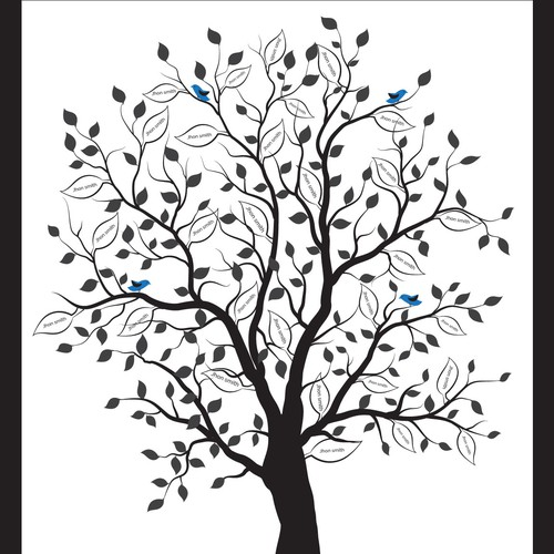 Family tree design with the title 'Family Tree'