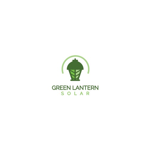 Renewable energy design with the title 'Green Lantern Solar'