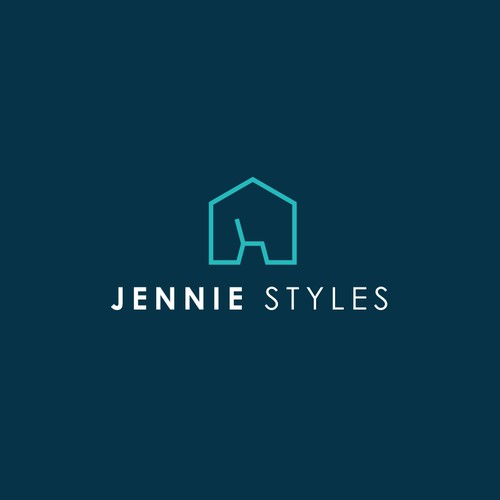 Home logo with the title 'Jennie Styles Logo'