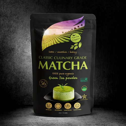 Bakery packaging with the title 'Green Tea Packaging Design'