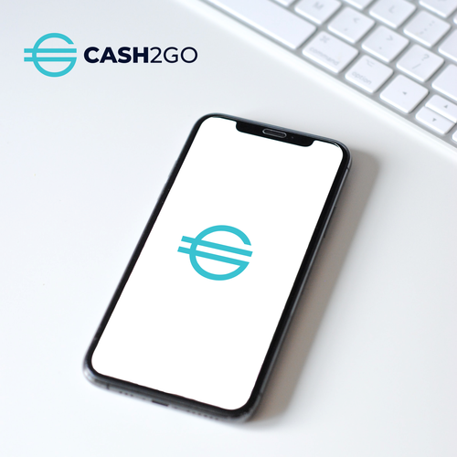 Money logo with the title 'Cash2Go Logo | Technology Logo | Cash Logo | Money Logo'