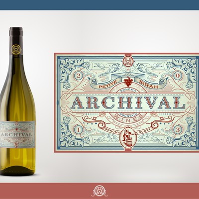 Create a vintage inspired Wine label