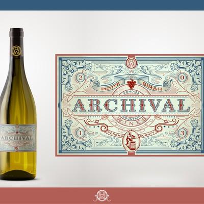 创建复古灵感的葡萄酒标签