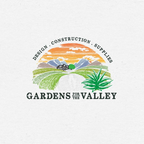 Landscaping brand with the title 'Gardens for the valley'