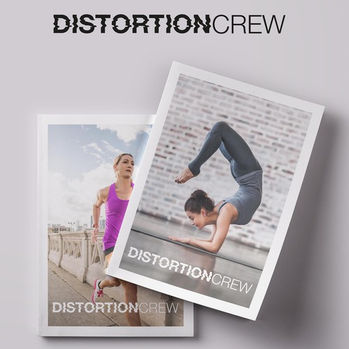Cover logo with the title 'Distortion Crew'