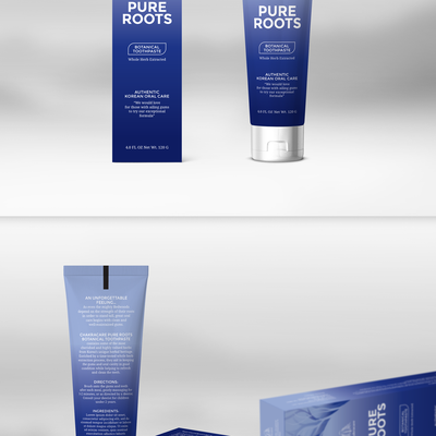 Toothpaste tube packaging design concept