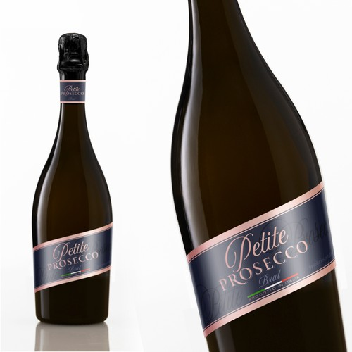 Premium label with the title 'Petite Prosecco'