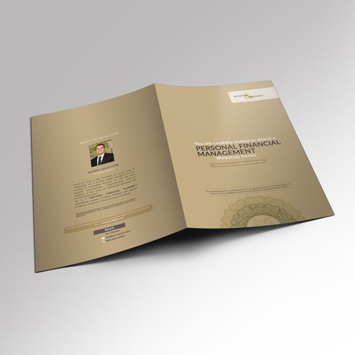 Personal design with the title 'Personal Financial Management - brochure'