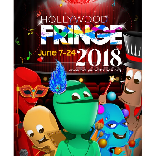 Flyer artwork with the title 'Poster for Hollywood Fringe 2018'