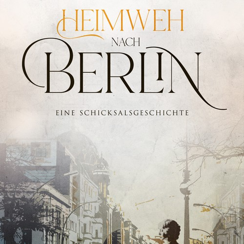 Book cover illustration with the title 'Mit dem Herzen zuhause'