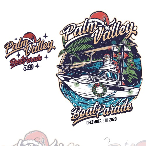 Boat t-shirt with the title 'PALM VALLEY'