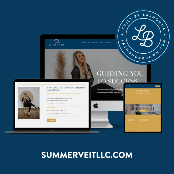Consultant website with the title 'SUMMER VEIT | Consultant'