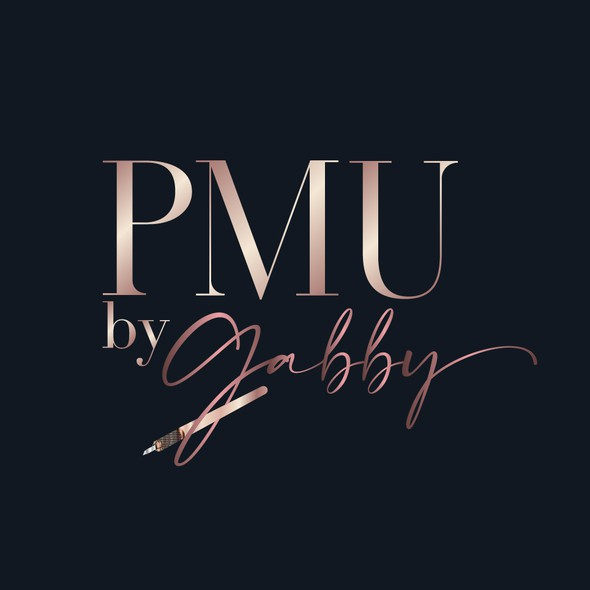 Microblading logo with the title 'PMU by Gabby'