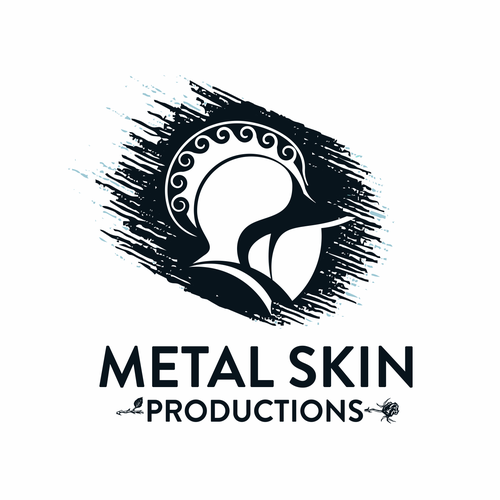 Art logo with the title 'Metal skin productions'