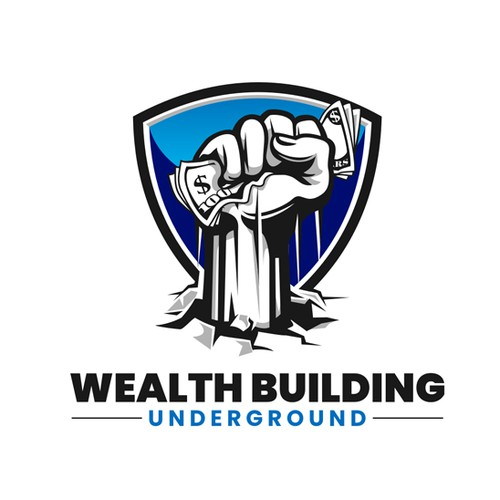 "Wealth logo with the title 'Design a logo for a financial membership website that gives the impression of being ""underground""'"