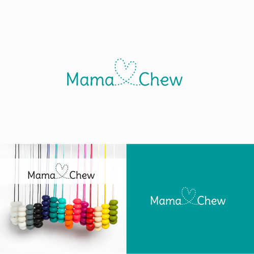 Mom and mama logo with the title 'Logo for Mama Chew'