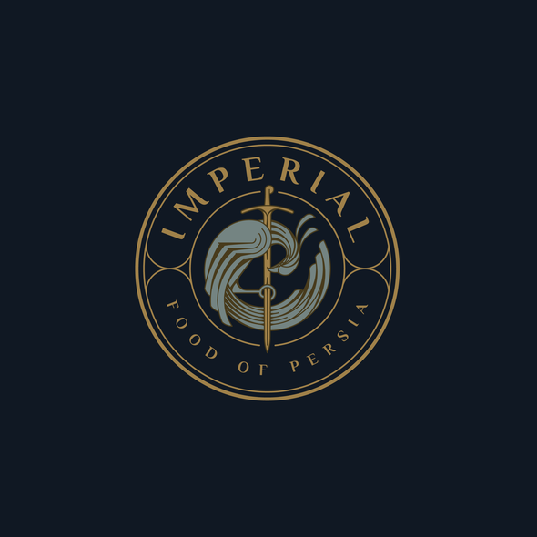 Mystical logo with the title 'Luxury logo for IMPERIAL Food Of Persia.'