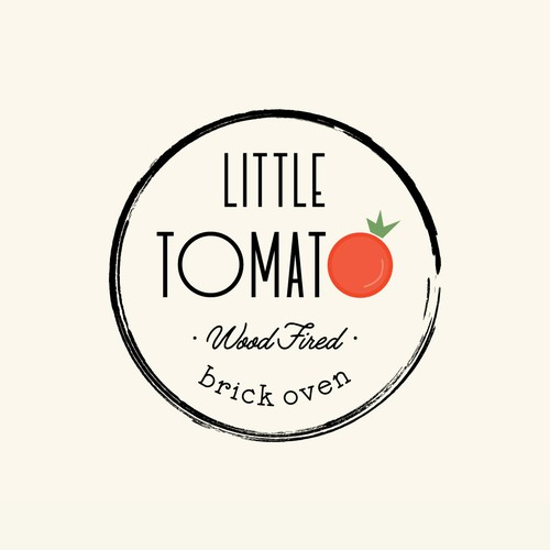 Pizzeria design with the title 'Little Tomato Restaurant Logo Identity Pack'